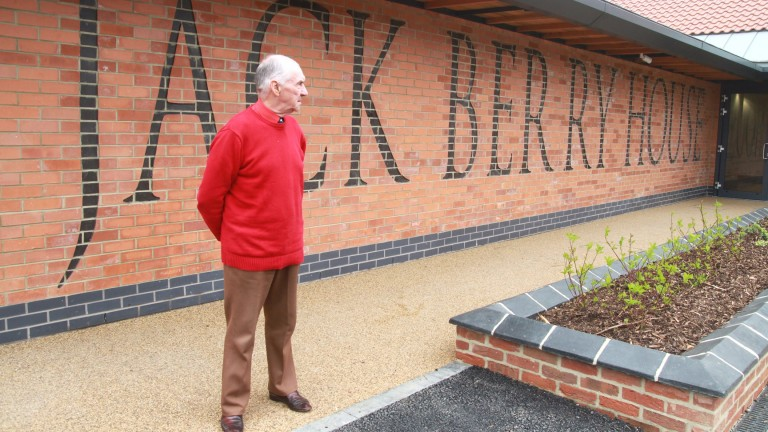 Jack Berry pictured at the Injured Jockeys Fund rehabilitation centre in Malton which bears his name