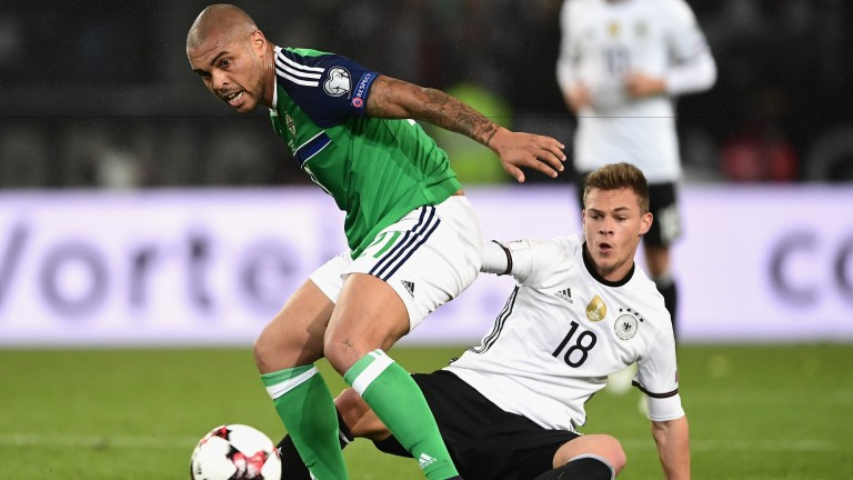 Josh Magennis (left) will lead the line for Northern Ireland