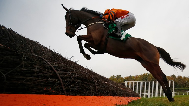 Tom Scudamore and Thistlecrack en route to a spectacular winning debut over fences at Chepstow