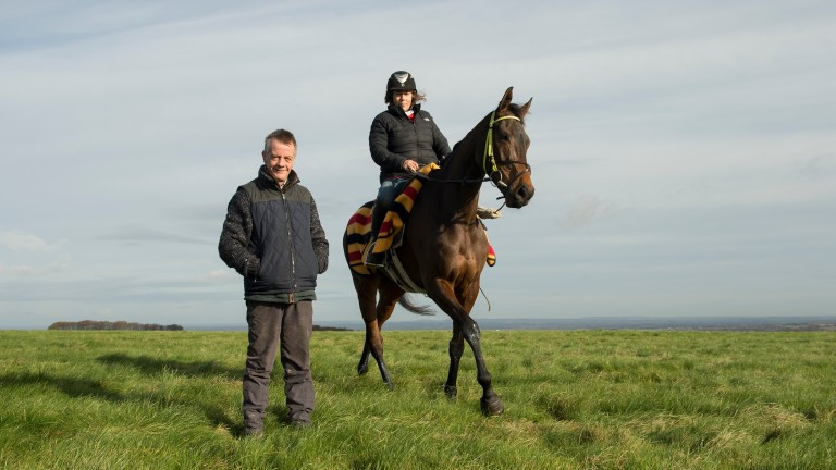 Mark and Sara Bradstock with flagship horse Coneygree