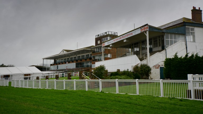 Folkestone racecourse, which closed in 2012