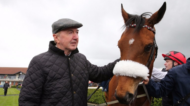 Dermot Weld with Forgotten Rules, who runs in the Listed Prix Denisy at Saint-Cloud