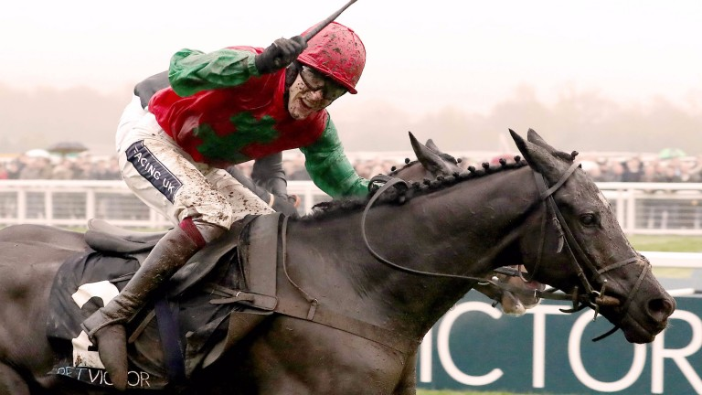 Taquin Du Seuil crosses the winning line to land the BetVictor Gold Cup