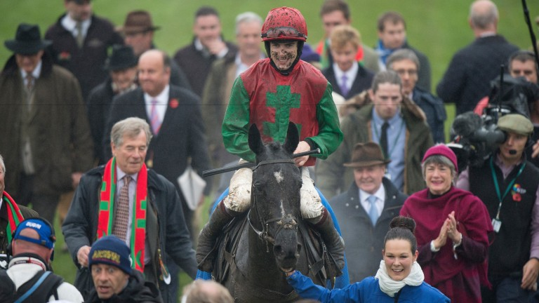 Smiles all round as Taquin Du Seuil arrives in the winner's enclosure