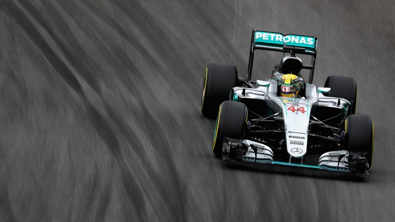Lewis Hamilton in Brazilian GP qualifying