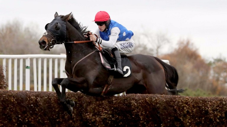 Strike two: Hughes steers Thankyou Very Much to victory in the 2m1f novice handicap chase