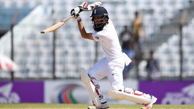 Moeen Ali scored a fourth Test century in Rajkot
