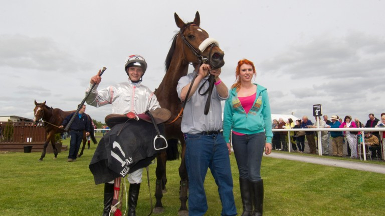 John Tobin (left): seen here after winning on Never A Secret at Kilbeggan back in June 2013