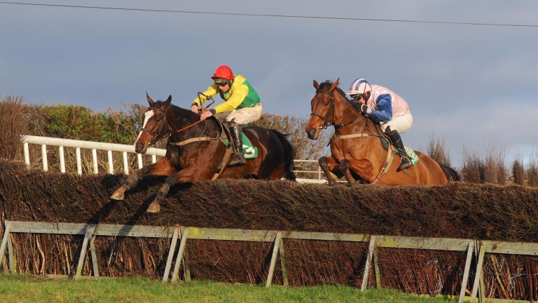 Grand Jesture (left) produced an impressive display at Loughbrickland on Saturday