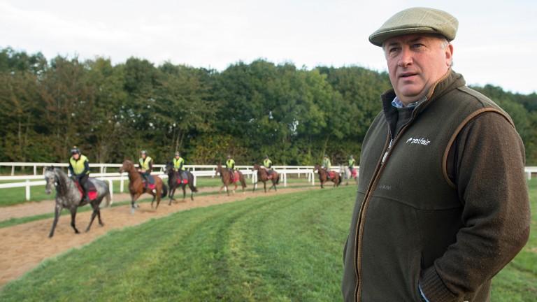 Paul Nicholls: gave Gary Derwin farewell winning ride