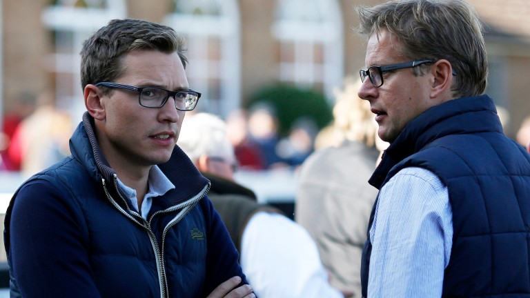 ITV Racing presenters Ed Chamberlin (right) and Oli Bell.