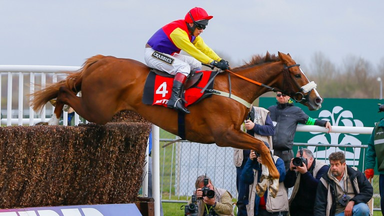 Richard Johnson won the Mildmay Novices' Chase on Native River at Aintree in April
