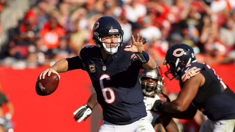 Bears QB Jay Cutler had a rough time in Tampa Bay