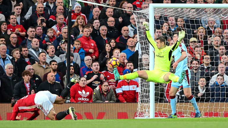 Burnley keeper Tom Heaton kept Manchester United at bay