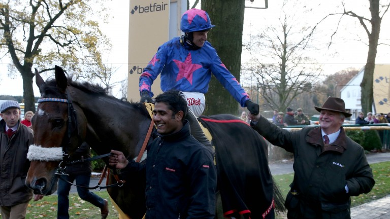 Cue Card: Paddy Brennan and Colin Tizzard (right) are looking forward to the King George