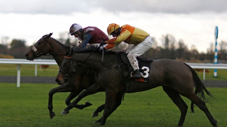 Surtee Du Berlais (far side) is 6lb worse off with Rons Dream compared with their running at Kempton last November