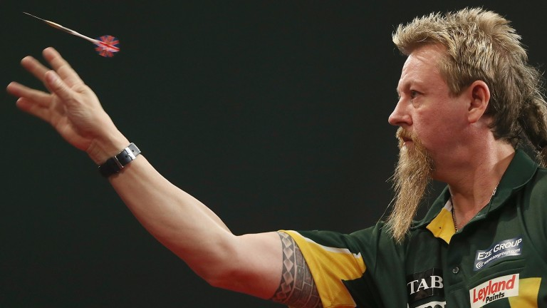 Simon Whitlock lets one fly
