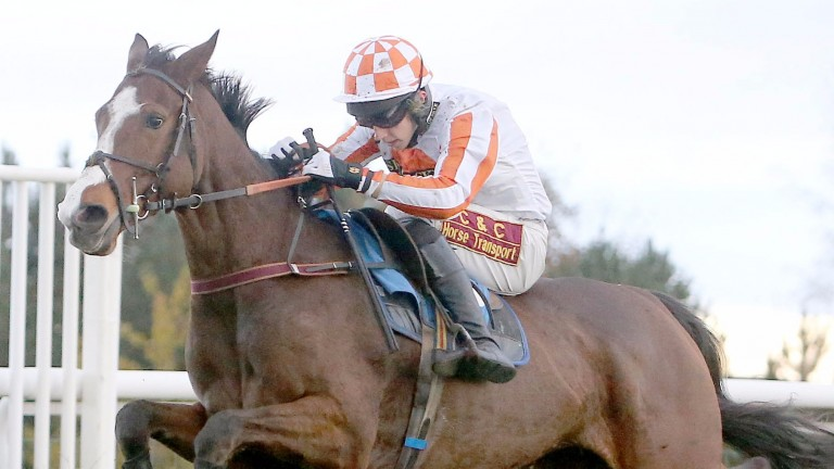 Harry Reed in winning action aboard Catchthemoonlight at Hexham