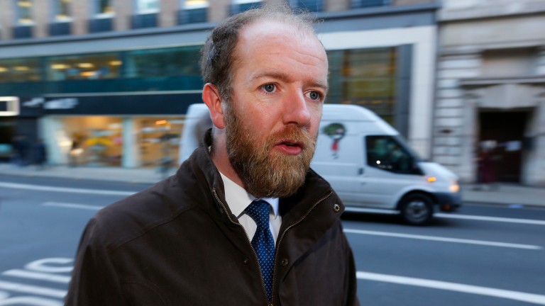 Trainer Jim Best at the BHA, where a panel is rehearing an inquiry into whether he ordered Paul John to stop two horses