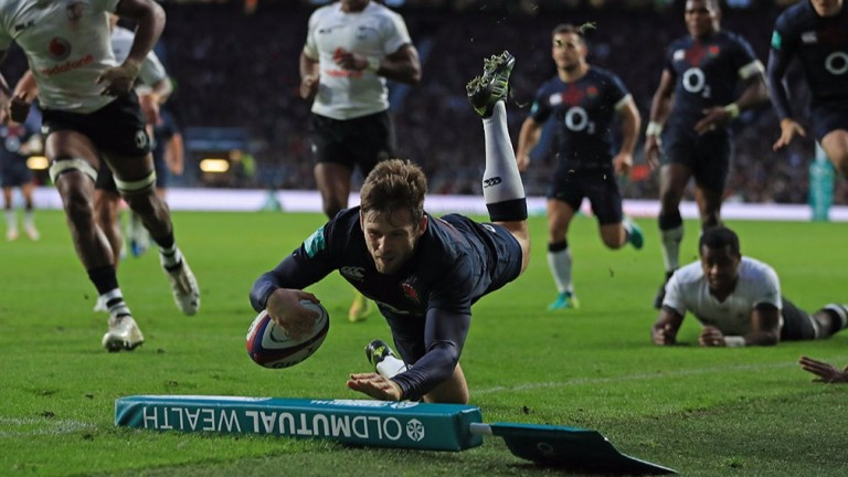 Elliot Daly was excellent on his first England start against Fiji last Saturday