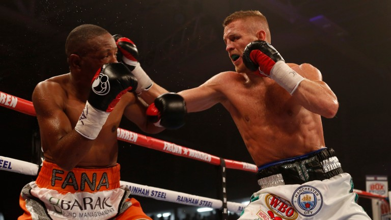 Terry Flanagan in action against Mzonke Fana