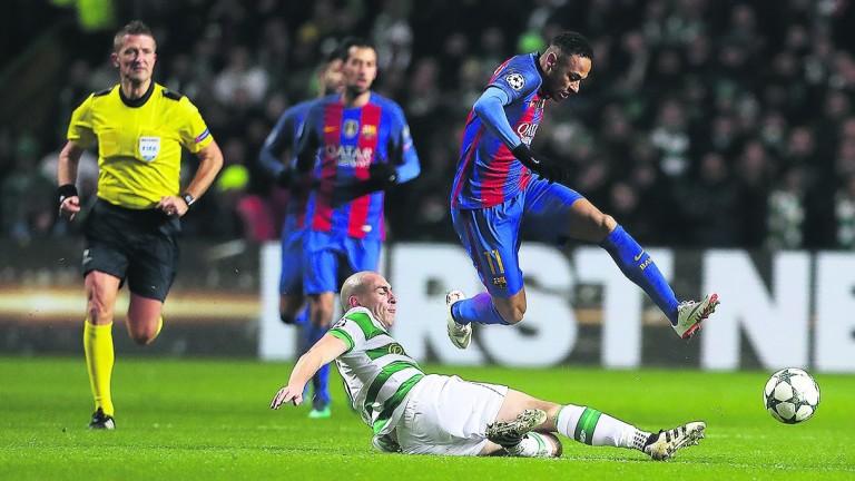 Neymar and Barcelona take on rivals Espanyol
