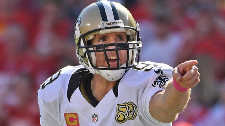 New Orleans quarterback Drew Brees in action against Kansas City