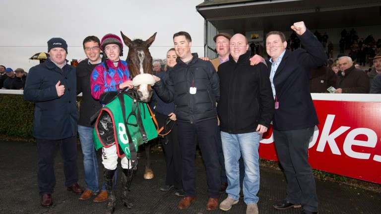 Ciaran Collins was a part of the Sideways Syndicate who own Jury Duty, seen here after winning at Navan last November