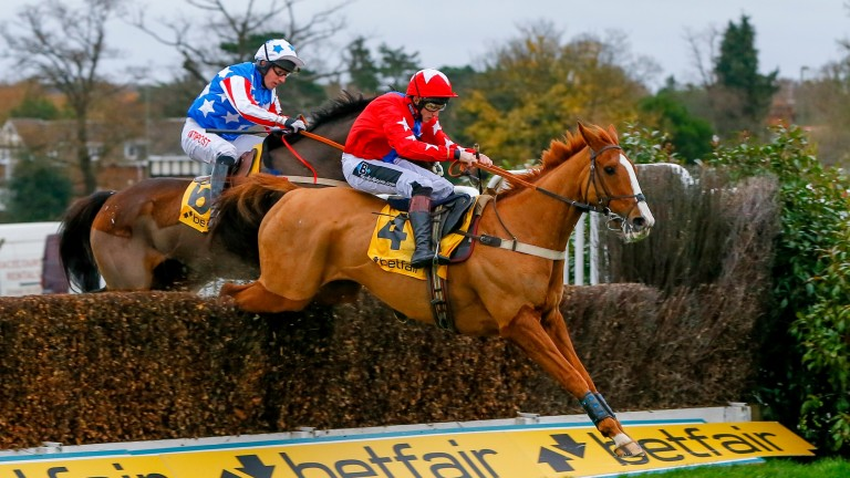 Sire De Grugy leads Special Tiara on his way to a second Tingle Creek triumph last year