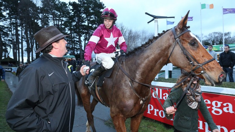 Eddie O'Leary congratulates Bryan Cooper after winning the Lexus Gold Cup on Don Poli last Chistmas