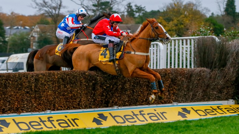 Sire De Grugy and Jamie Moore beat Special Tiara in last year's Betfair Tingle Creek Chase