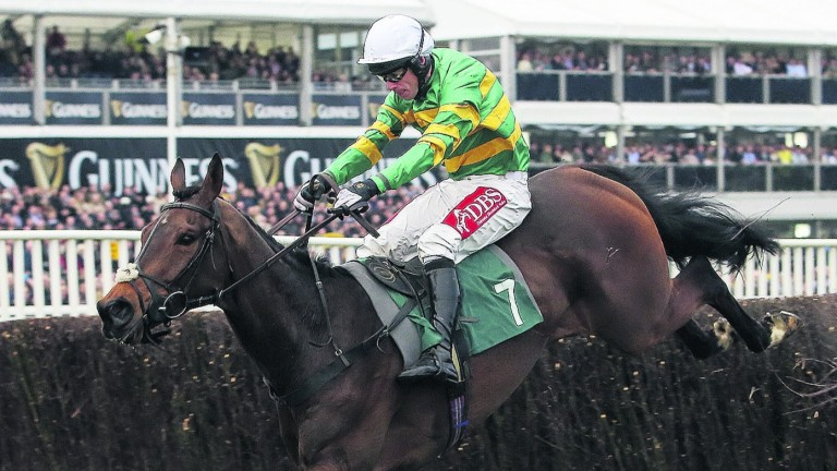 Minella Rocco and Derek O'Connor on the way to victory in the National Hunt Chase