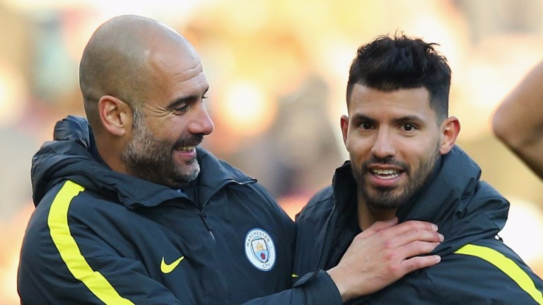 Pep Guardiola and Sergio Aguero can help Man City win the title