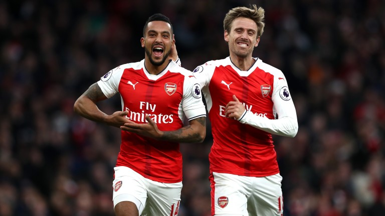 Theo Walcott (left) could have plenty more to smile about