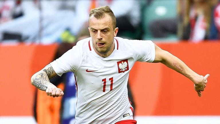 Rennes midfielder Kamil Grosicki representing Poland
