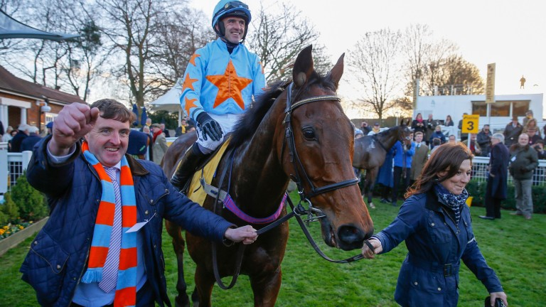 Un De Sceaux and Ruby Walsh are led back in after the Tingle Creek