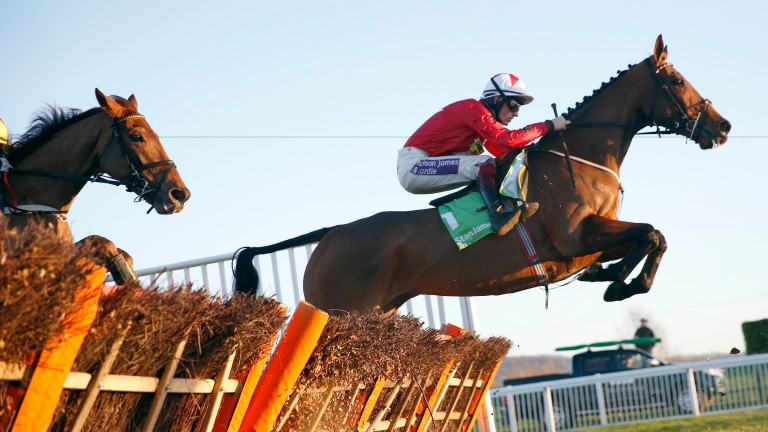 The New One on his way to winning the International Hurdle in 2014