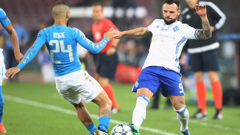 Dynamo Kiev held Napoli to a draw