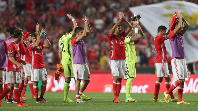 Benfica are tied with Napoli at the top of Group B