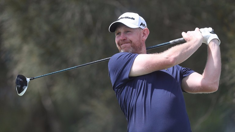 Stephen Gallacher is only three shots behind