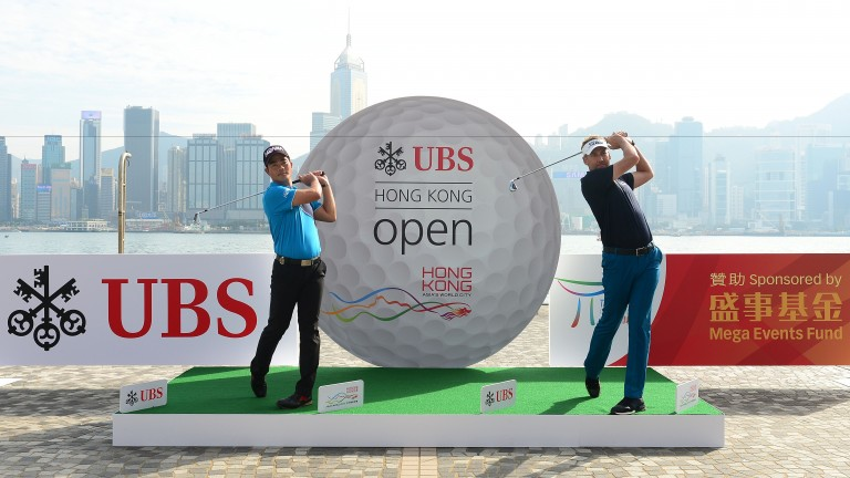 Lian Wenchong and Ian Poulter in Hong Kong