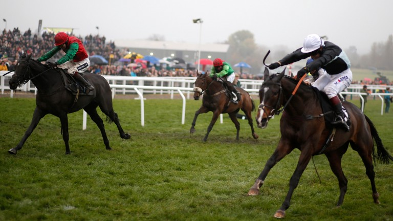 Village Vic (right) just loses out to Taquin Du Seuil in this season's BetVictor Gold Cup