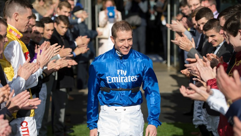 Champion jockey Jim Crowley: back on Wedneday