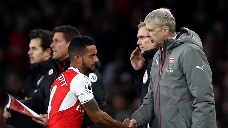 Theo Walcott and Arsenal boss Arsene Wenger