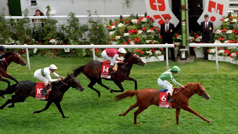 Lammtarra makes it three Derbys for Walter Swinburn in 1995