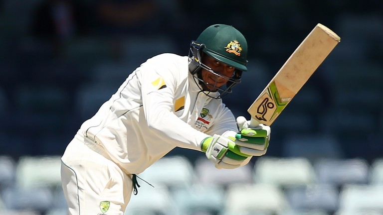 Usman Khawaja hit 146 against South Africa in Adelaide