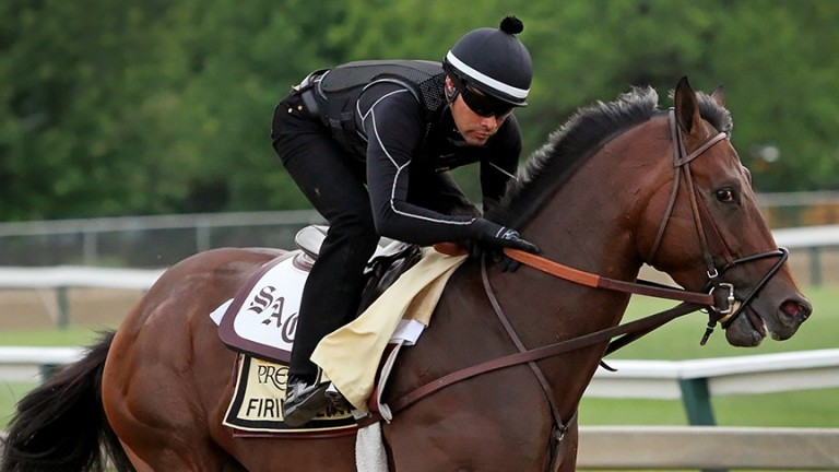 Firing Line: finished a length behind American Pharoah in the Kentucky Derby