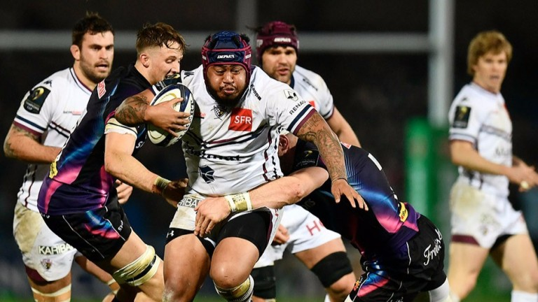 Bordeaux hooker Ole Avei goes on the charge