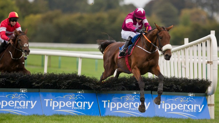 Shattered Love (winning here at Tipperary in October) gained a deserved success in the Listed mares novice hurdle at Thurles