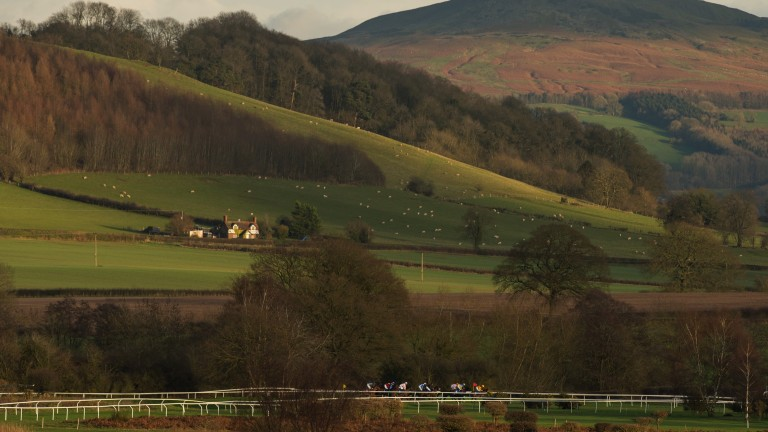 Edward Whitaker travelled to Ludlow in Shropshire to capture this image of the racecourse